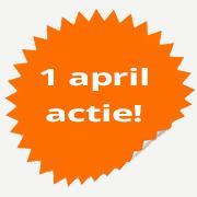 1 april actie