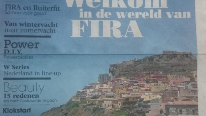 Ruiterfit in de nieuwe FIRA krant.